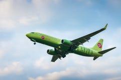 波音737航空公司S7西伯利亚航空公司VP-BDG  库存图片