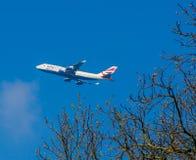 波音747飞机 库存照片