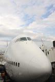 波音747驾驶舱 免版税图库摄影