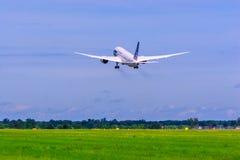 波音787 Dreamliner。 免版税库存照片