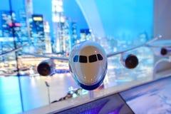 波音787-10 Dreamliner模型在显示在新加坡Airshow 免版税图库摄影