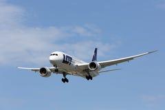 波音787 Dreamliner -全部波兰航空公司 免版税库存图片