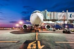 波音777-300er酋长管辖区 免版税库存图片