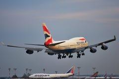 波音747-400F英国航空公司 图库摄影
