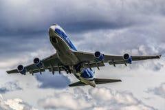 波音747-400F ABC 免版税库存照片