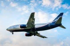 波音737 (VP-BRG)航空公司Nordavia地方航空公司 免版税库存图片
