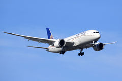 波音787 Dreamliner -联合航空 免版税库存图片