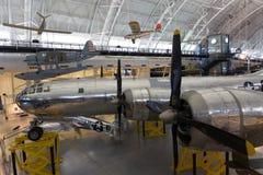 波音B-29史密松宁的NASM安妮Superfortress艾诺拉・盖号轰炸机 免版税库存照片