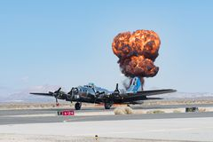 波音B-17显示的飞行堡垒 库存照片