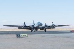 波音B-17显示的飞行堡垒 免版税库存图片