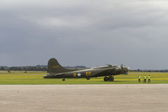 波音B-17立场的飞行堡垒在Duxford 免版税图库摄影