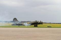 波音B-17立场的飞行堡垒在Duxford 库存照片