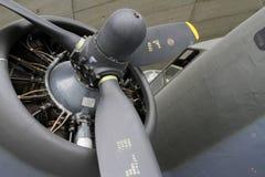 波音B-17飞行堡垒推进器和引擎 库存照片