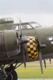 波音B-17飞行堡垒驾驶舱、推进器和引擎 免版税库存照片