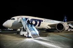787波音dreamliner 库存图片