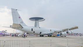 波音E-3哨兵AWACS -北约- OTAN为visitators打开 库存照片
