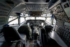 波音E-3A哨兵AWACS驾驶舱  库存图片