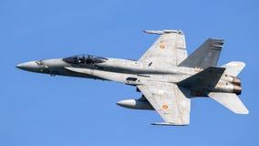 波音F/A-18大黄蜂喷气式歼击机 图库摄影