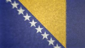 波黑的旗子的原始的3D图象 向量例证