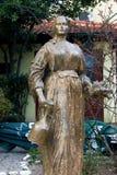 波黑,莫斯塔尔- 07/08/2015 :对Emina Sefich的纪念碑 库存照片