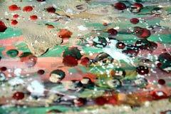 泥、蜡、水彩和油漆抽象背景 免版税库存照片