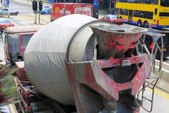 水泥卡车 免版税库存图片