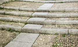 水泥台阶石头 免版税库存照片