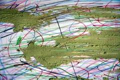 泥和铅笔线,抽象背景 免版税库存图片