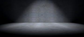 水泥地板背景和斑点光 免版税库存图片