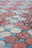 水泥块路面 免版税库存照片