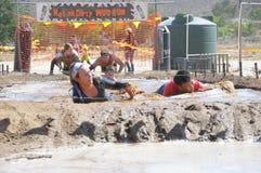泥奔跑 图库摄影