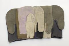 泥工和建造者的特别手套 库存照片