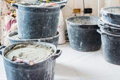 泥工的工具 图库摄影