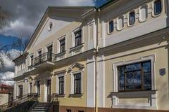 泥工` s议院在Hrodna 库存照片