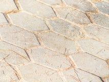 水泥或具体多角形形状阻拦样式和背景 库存图片