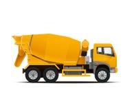 水泥搅拌车卡车 高详细的传染媒介例证 免版税库存图片