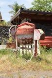水泥搅拌车 库存照片