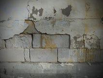 水泥有油漆的砖墙 免版税库存照片