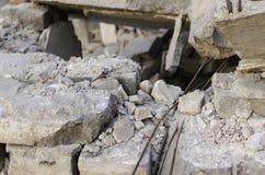 水泥板的废墟 库存图片