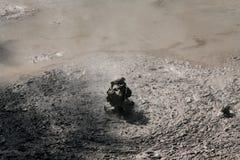 泥池rotorua 免版税库存图片