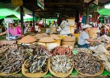 泥河,缅甸, 2016年9月12日:地方市场在泥河,掸邦,缅甸 免版税库存照片