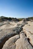 泥泞的土壤火山 免版税库存照片