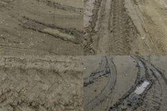 泥泞的土路 图库摄影
