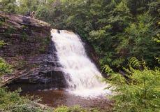 泥泞的小河瀑布加勒特县马里兰 库存图片
