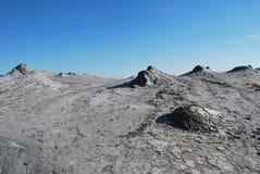 泥泞的火山 免版税库存图片
