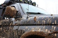 泥泞的越野车 库存图片