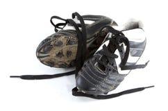 泥泞的鞋子 免版税图库摄影