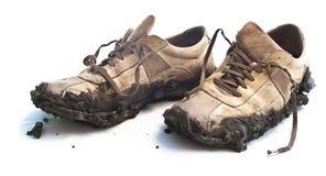 泥泞的鞋类 免版税库存图片