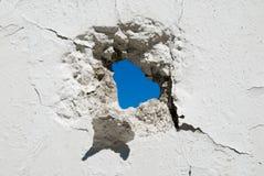 水泥漏洞墙壁 库存图片