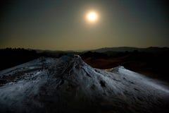 泥火山在罗马尼亚 免版税库存图片